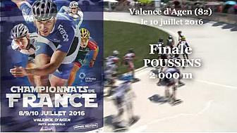 Championnat de France Roller Piste 2016: Finale Poussins 2 000m s @FFRollerSports #TvLocale_fr #TarnEtGaronne @Occitanie