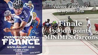 Championnat de France Roller Piste 2016: Finale Minimes Garçons 3 000m à points @FFRollerSports #TvLocale_fr #TarnEtGaronne @Occitanie