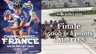 Championnat de France Roller Piste 2016: Finale Cadettes 5 000m à points @FFRollerSports #TvLocale_fr #TarnEtGaronne @Occitanie