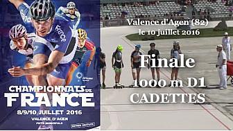 Finale Cadettes Championnat de France Roller Piste 2016: 1 000m D1 @FFRollerSports #TvLocale_fr #TarnEtGaronne @Occitanie