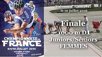 Finale Juniors/Séniors Femmes Championnat de France Roller Piste 2016: 1 000m D1 @FFRollerSports #TvLocale_fr #TarnEtGaronne @Occitanie