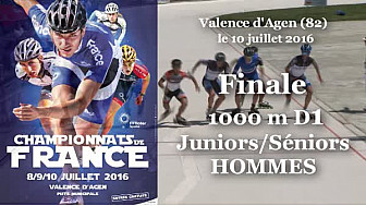 Finale Juniors/Séniors Hommes Championnat de France Roller Piste 2016: 1 000m D1 @FFRollerSports #TvLocale_fr #TarnEtGaronne @Occitanie