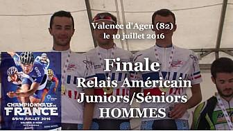 Finale Relais Américain Juniors/Séniors Hommes Championnat de France Roller Piste 2016  @FFRollerSports #TvLocale_fr #TarnEtGaronne @Occitanie