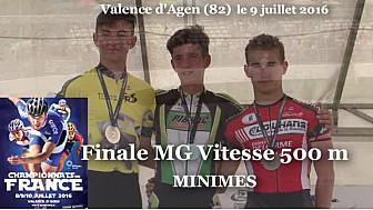 Dorian CASSAGNE Champion de France Roller Piste 2016 au MG Vitesse 500m @FFRollerSports #TvLocale_fr #TarnEtGaronne @Occitanie