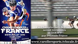 Le Championnat de France Roller Piste va avoir lieu le week-end du 8 au 10 juillet à Valence d?Agen (82) @FFRollerSports #TvLocale_fr