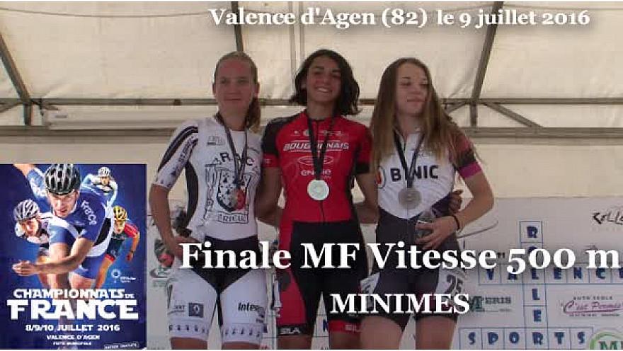 Honorine BARRAULT Championne de France Roller Piste 2016 au MF Vitesse 500m @FFRollerSports #TvLocale_fr #TarnEtGaronne @Occitanie